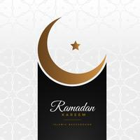 stilvoller Ramadan Kareem Festivalgruß