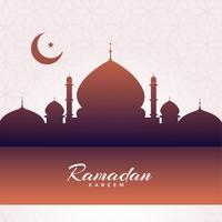 Fondo de la silueta de la mezquita Eid Mubarak