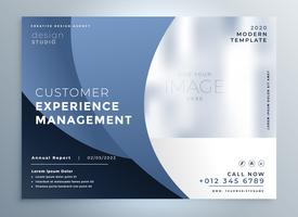 stylish blue business flyer design