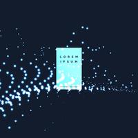 Fondo de partículas de puntos de neón azul