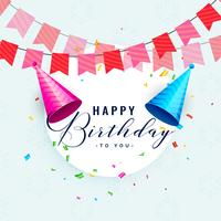 design de cartão de celebração de feliz aniversário