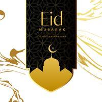 Diseño creativo del fondo del saludo de eid mubarak