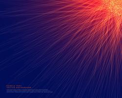 abstrait bleu avec des lignes rouges brillantes