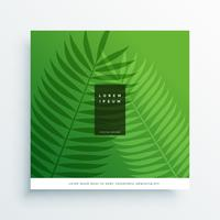 eleganta gröna blad eco bakgrund
