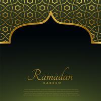 porte de la mosquée d'or avec motif islamique pour ramadan kareem