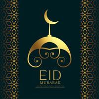 Mezquita creativa de diseño para festival eid.