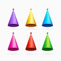 conjunto de celebração colorido ou tampas de feliz aniversário