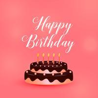 gelukkige verjaardagscake met kaarsen