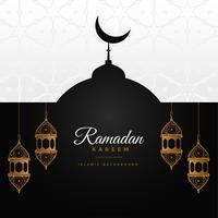 Ramadan Kareem impresionante diseño de fondo