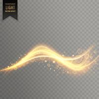 wavy vector transparent light effect background