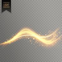 fundo de efeito de luz transparente ondulado vector