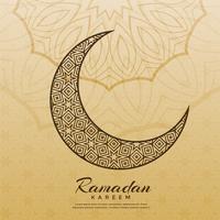 design de lua islâmica para a temporada de ramadan kareem