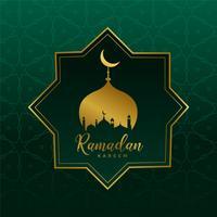 Fondo de diseño islámico Ramadán Kareem