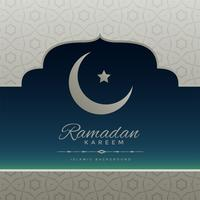 Fondo de Ramadan Kareem creativo con luna y estrella