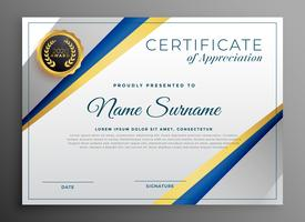 professional certificate tempplate design with geometric lines