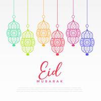 colorida linterna colgante para festival eid