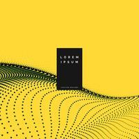 fond jaune avec onde de particules
