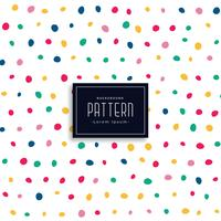hand drawn colorful round spots pattern background