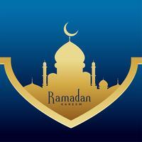 Ramadan Kareem stilvolles, erstklassiges Grußdesign