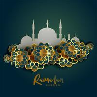 Fondo de saludo islámico Ramadan Kareem