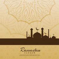 Fondo de saludo festival de Ramadan Kareem creativo