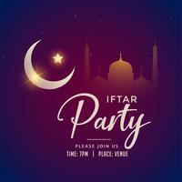 priorità bassa del partito di iftar del Ramadan Kareem