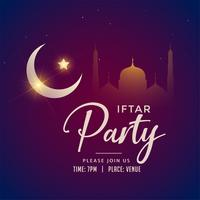 Ramadán Kareem iftar fondo de fiesta