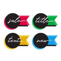 venda e oferecer tags em cores diferentes