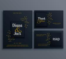 elegant dark wedding card invitation template