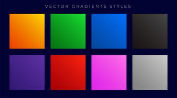 insieme di gradienti colorati luminosi moderni