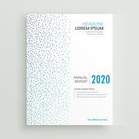 Informe mínimo anual de diseño de folleto con puntos azules.