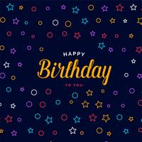 stylish happy birthday card design with colorful pattern