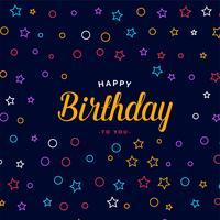 design elegante carta di buon compleanno con pattern colorati