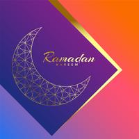 Ramadán kareem hermoso fondo de saludo de lujo