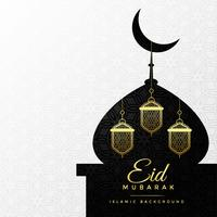Lámparas colgantes dentro del diseño conceptual de la mezquita para eid mubarak