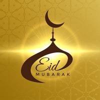 Diseño creativo de la mezquita para el festival eid mubarak.
