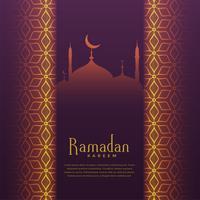 ramadan kareem festival hälsning vacker bakgrund