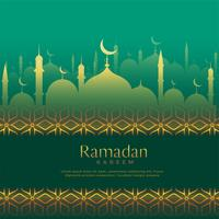 Ramadan Kareem ehrfürchtigen Vektor Hintergrund