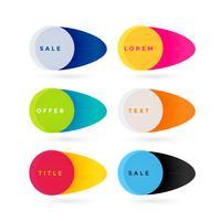 trendy kleurrijke schattige verkoop banners set