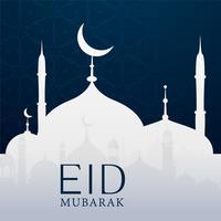 eid mubarak bakgrund med moské