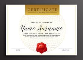 modèle de conception de certificat moderne de luxe élégant