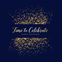 grattis på födelsedagsfest glitter och gnistrar bakgrund