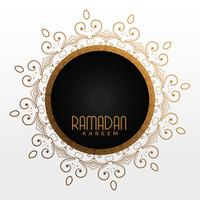 ramadan kareem dekorativa ram med textutrymme