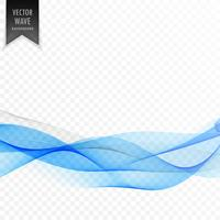 transparent vector wave background design