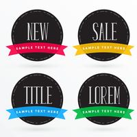 dark label design with colorful ribbons for sale and promotions
