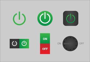 Vetores do botão Desligado