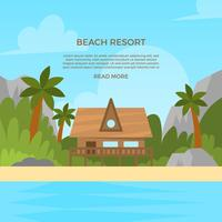 Flat Beach Resort vectorillustratie