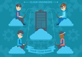 Cloud ingenieurs vector illustratie