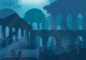 Stadt von Atlantis-Vektor