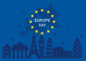 Europe Day Vector